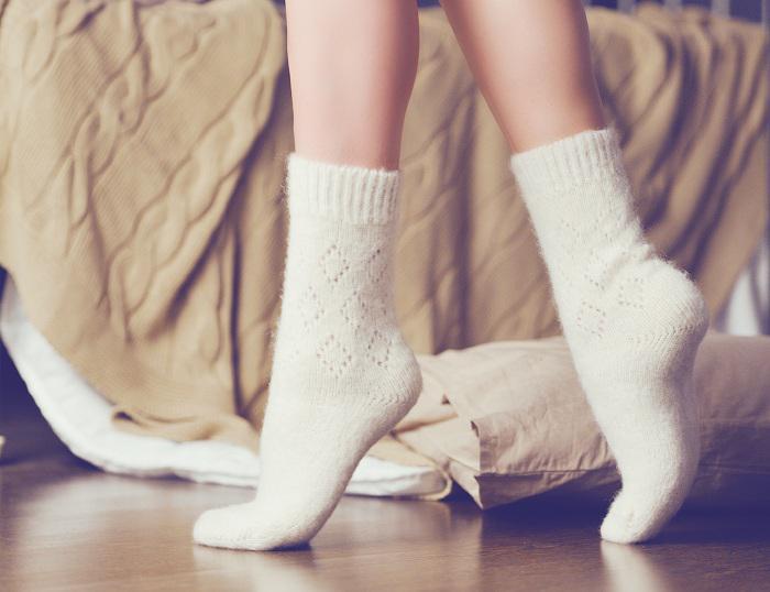 Носочках девушек белых только красивых ноги в